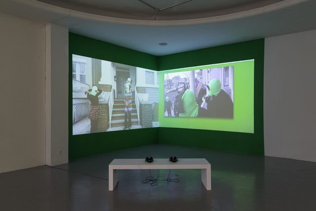 , 'Lineage for a Multiple-Monitor Workstation: Number One,' 2015, Los Angeles Contemporary Exhibitions