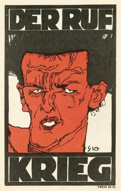 """, 'Cover """"Der Ruf"""",' 1912, Galerie Bei Der Albertina Zetter"""