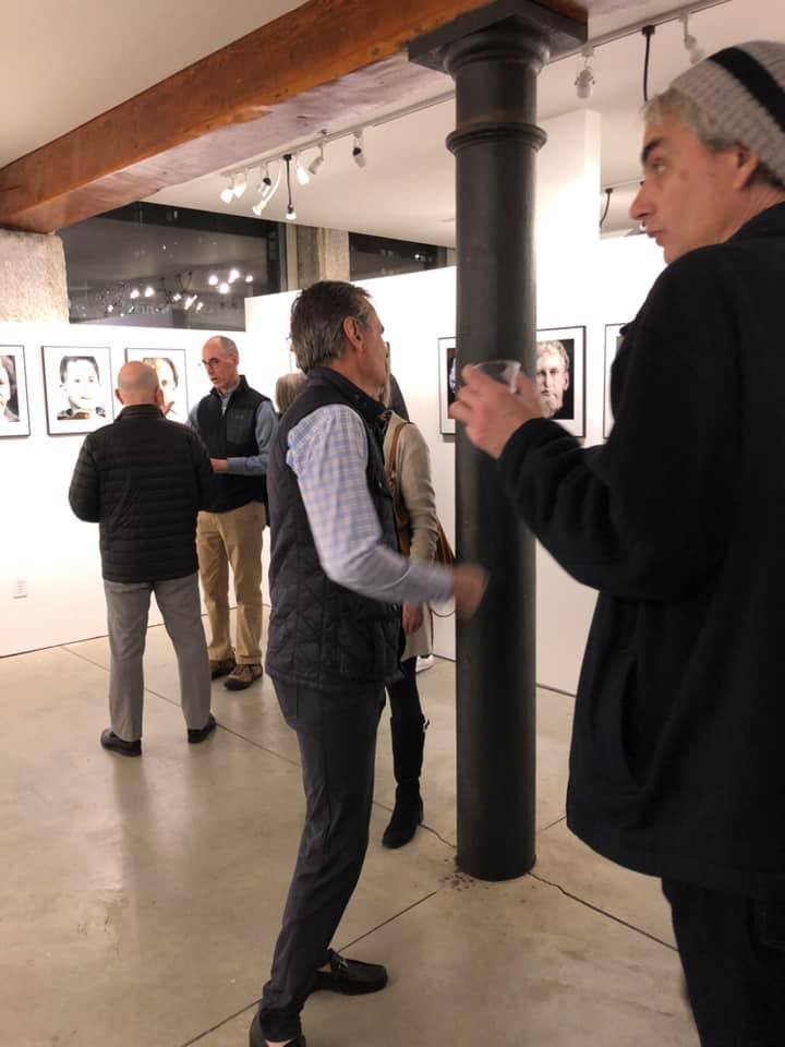 Well attended Reception on January 3rd. David Weinberg superimposes self-portraits onto images ranging from mythological figures to animals to X-rays and everything in between. His reflection is one of identification with these icons, as he attempts to define his own persona.