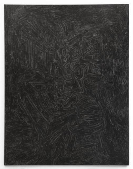 Pierre Bismuth, 'BLACK PAINTING - Piglet the Draftsman', 2007, Christine König Galerie