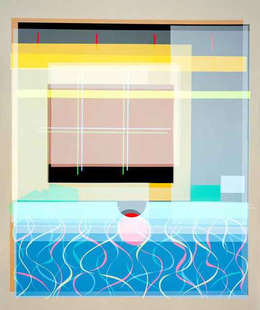 , 'Self-titled Adaptation of Peter Getting Out of Nick's Pool (After David Hockney 1966), Version I,' 2018, Bryce Wolkowitz Gallery