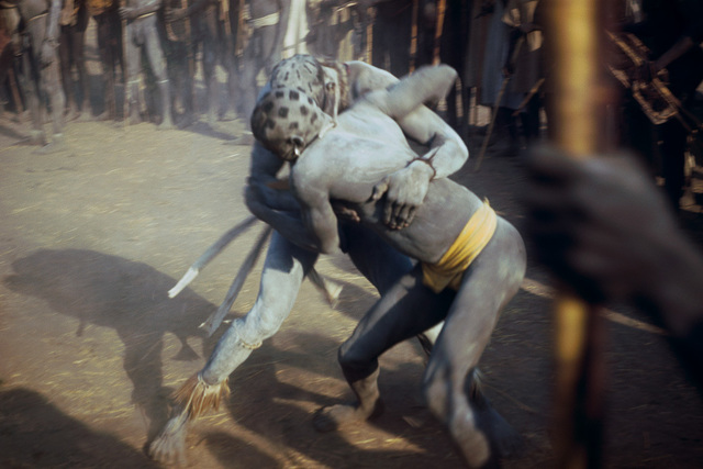, 'Wrestlers of the Kao-Nyaro. Kordofan, Southern Sudan,' 1949, David Hill Gallery