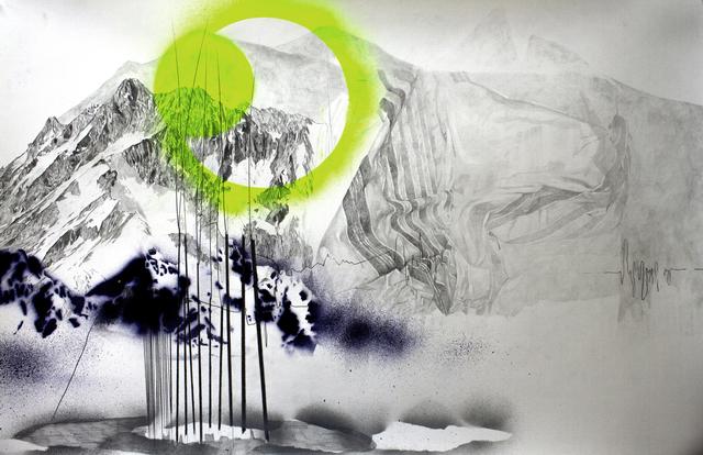 Yifat Bezalel, 'No Rules', 2017, Mixed Media, Pencil and Acrylic Spray on Paper, Mirav Katri