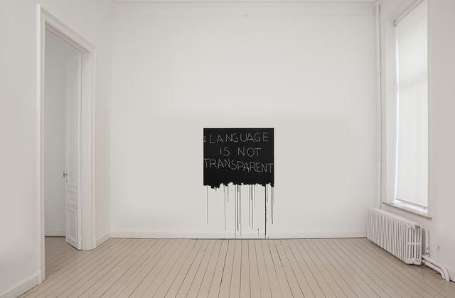 , 'Language is not transparent,' 2017, Gladstone Gallery