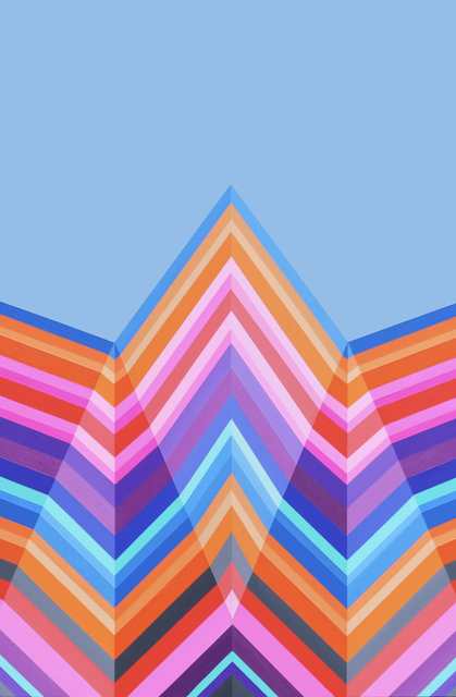 , 'Blue Tipped Peak,' 2017, Newzones