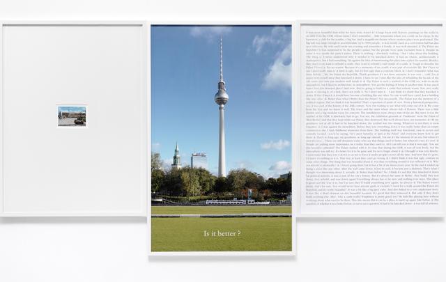 , 'Is it better,' 2012, A3 Arndt Art Agency