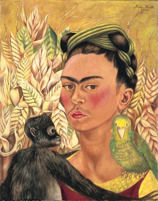 , ' Autorretrato con chango y loro,' 1942, MALBA
