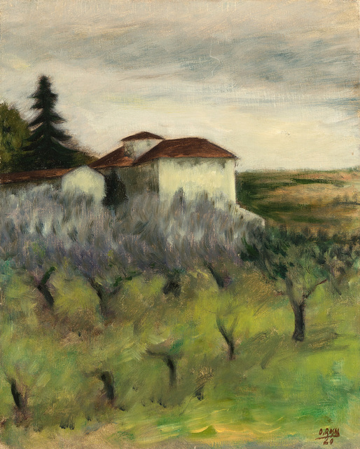 "Ottone Rosai, '""Tuscan Landscape""', 1940, Painting, Oil on canvas, Il Ponte"