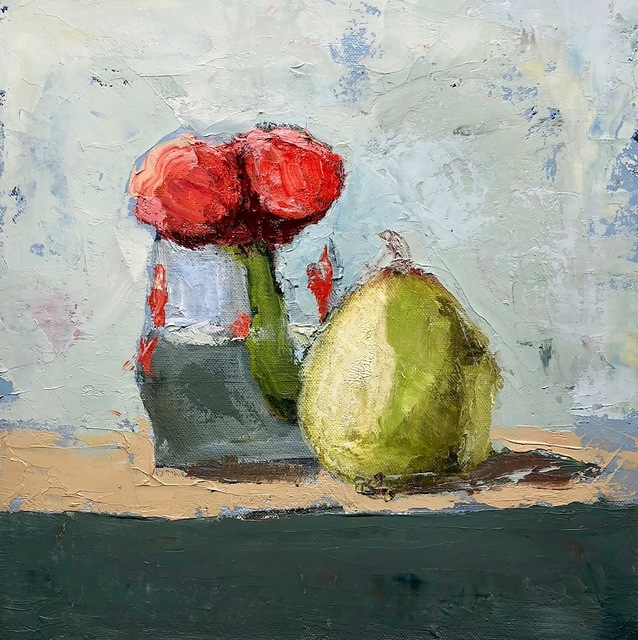 , 'Tulips and Pear,' 2010-2018, Eisenhauer Gallery