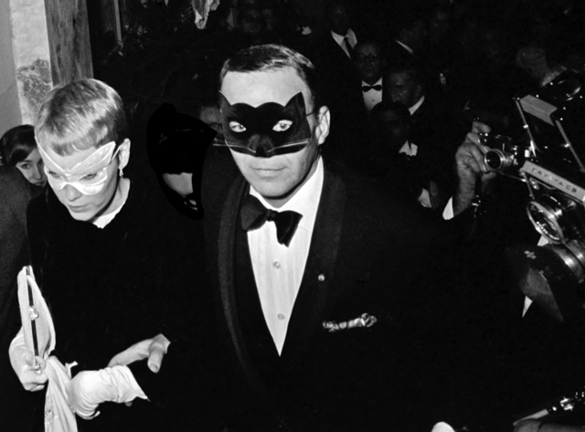 ", 'Frank Sinatra and Mia Farrow at Truman Capote's ""Black and White"" Ball at thwe Plaza Hotel, New York,' 1966, Staley-Wise Gallery"