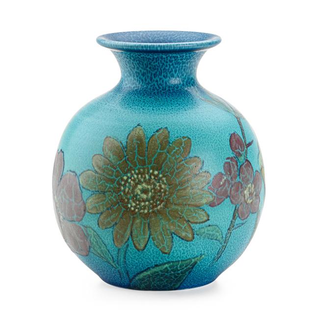 Kataro Shirayamadani, 'Double Vellum Vase With Various Flowers (Uncrazed), Cincinnati, OH', 1932, Design/Decorative Art, Rago/Wright
