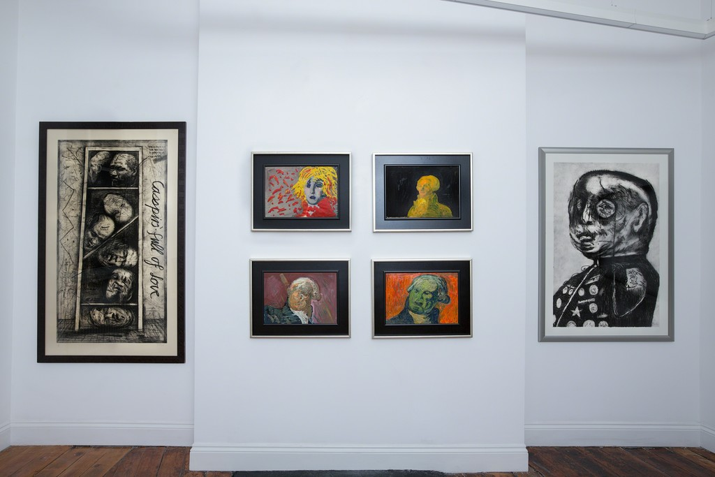 Gallery installation, William Kentridge & György Kovásznai in Creative Fury (photography by Danny Loo)