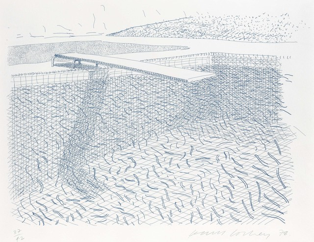 David Hockney, 'Lithographic Water made of lines', 1980, Christie's