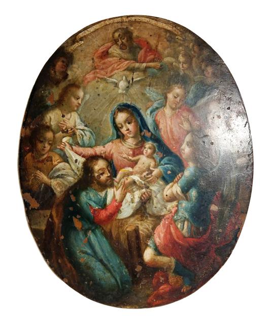 , 'Escudo de monje con la representación del misterio,' Siglo XVIII, Mario Uvence