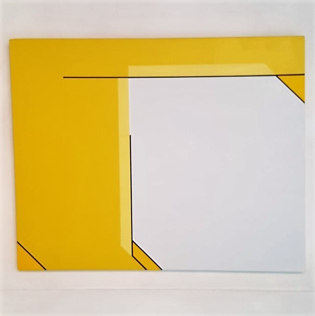 , 'Rectangle - jaune - blanc grisé / Art Construit,' 2017, Galerie Marie-Robin