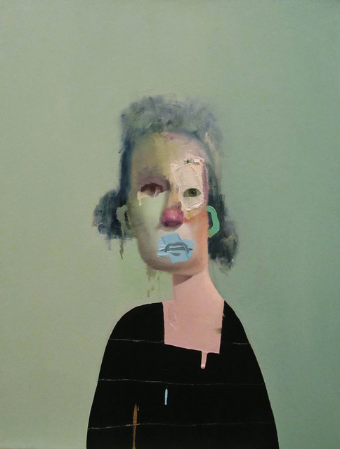 , 'Untitled Portrait With Four Stripes and Green Painted Ear,' 2014, envoy enterprises