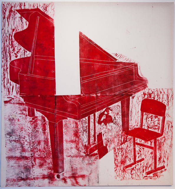 Katya Zvereva, 'Grand Piano in Red', 2017, The Untitled Space