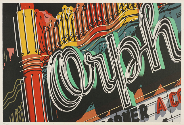 Robert Cottingham, 'Orph, from Documenta portfolio', 1972, Print, Lithograph in colours, on Arches paper, with full margins, Phillips