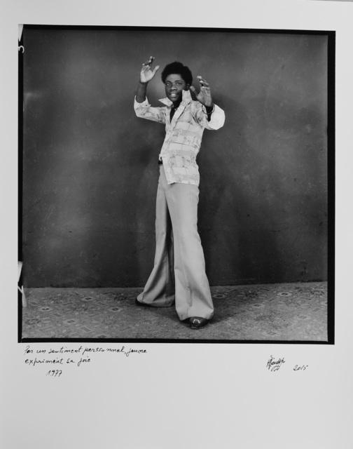 , 'Par un sentiment personnel, jeune exprimant sa joie,' 1977, Magnin-A