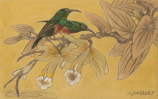 , 'Hummingbirds in Vanilla Flowers,' , Galerie Dumonteil