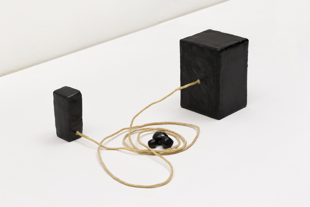 , 'Dois blocos com corda e pedras | Two blocks with rope and stones,' 2018, Mendes Wood DM