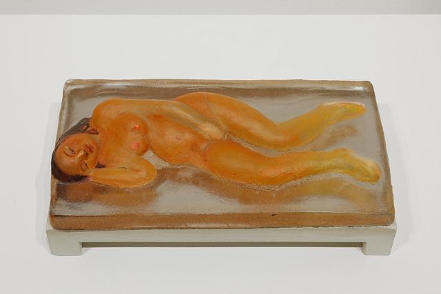 Akio Takamori, 'Orange Sleeper/ Female', 2014, James Harris Gallery
