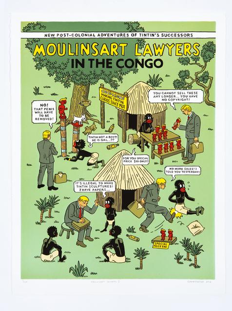 , 'Moulinsart Lawyers in the Congo I,' 2012, HUBERTY & BREYNE GALLERY