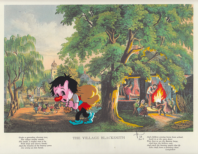 , 'The Village Blacksmith,' 2017, heliumcowboy