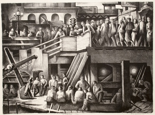 , 'The People Work-Noon,' 1937, Dolan/Maxwell