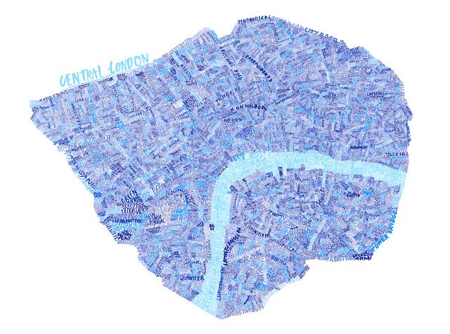 , 'Central London Map,' 2015, Jealous Gallery