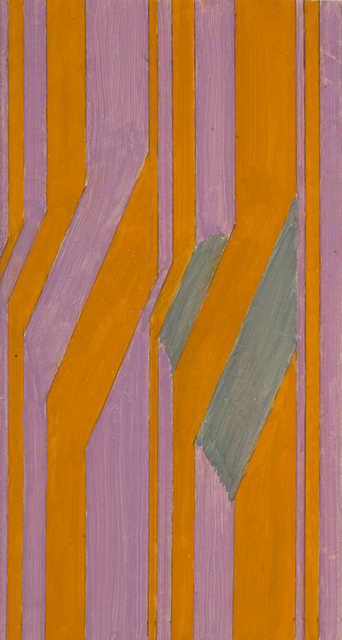 , 'Orange and Violet stripes with Grey,' 1962, Flowers