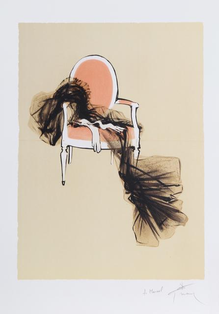 René Gruau, 'Dress on a Chair', ca. 1990, Print, Lithograph, RoGallery