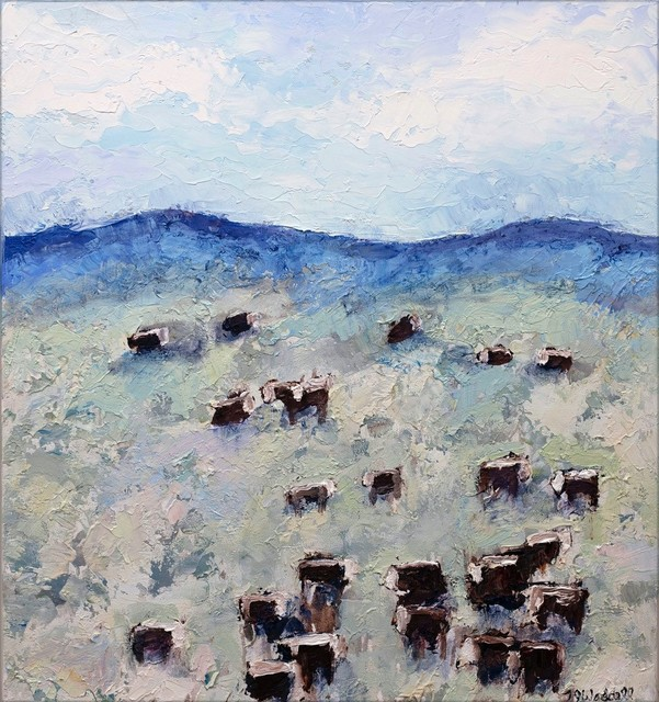 , 'Beartooth Herefords #2,' , Valley Fine Art