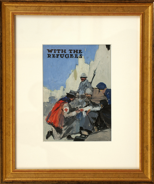 , 'With the Refugees,' ca. 1914, Thurston Royce Gallery of Fine Art, LTD.