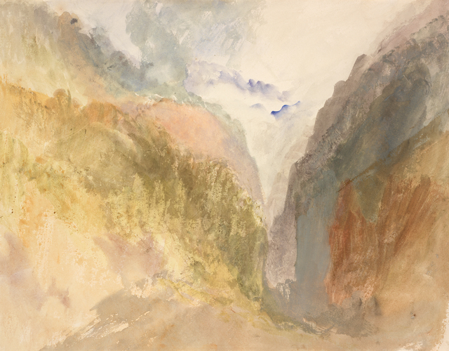 J. M. W. Turner, 'A Mountain Gorge', 1836-1840, RISD Museum