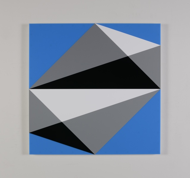 , 'Composition in 3015 White, 3001 Gray, 2026 Black and 2648 Blue,' 2015, Miller Yezerski Gallery