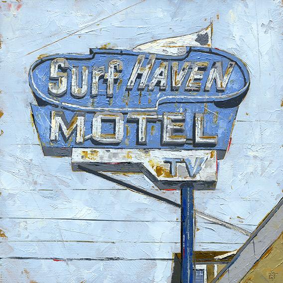 ", '""Surf Haven Motel"",' 2018, Parlor Gallery"