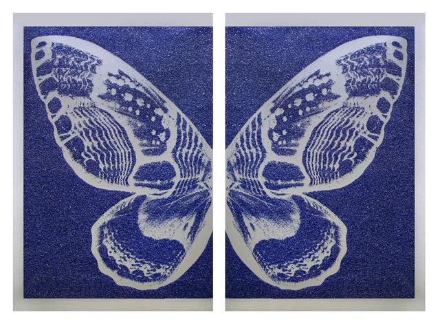 , 'Hybrid Silver Butterfly I on Blue,' 2016, Octavia Art Gallery