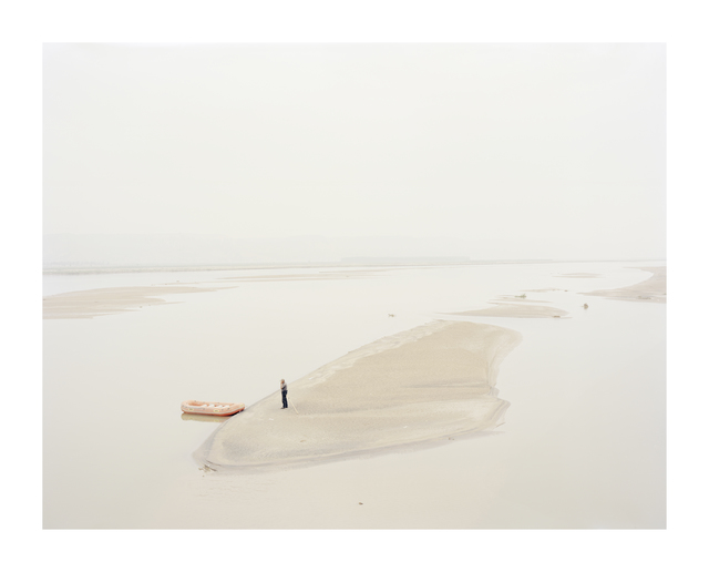 , 'A Man Standing on an Island in the Middle of the River Shaanxi, China,' 2012, Beetles + Huxley
