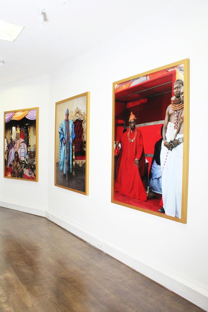 Installation shot - George Osodi | Royalty at TAFETA, Margaret Street, London