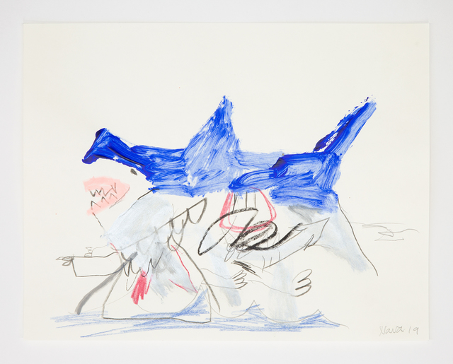 Robert Nava, 'Untitled', 2019, Drawing, Collage or other Work on Paper, Crayon, grease pencil, and pencil on paper, Night Gallery