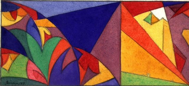 , 'Abstract design - Pyramids,' 1884-1979, Waterhouse & Dodd