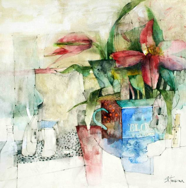 , 'Two Flowers in a Blue Vase,' , Mall Galleries