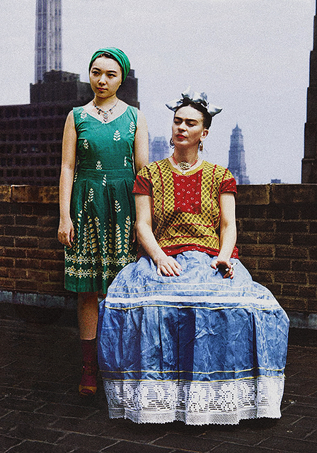, 'Frida Kahlo & Celine Liu I,' 2014, Migrant Bird Space