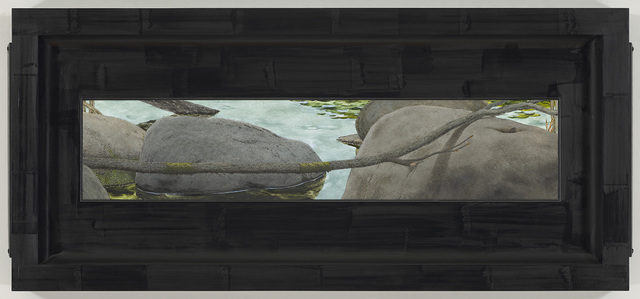 Neil Jenney, 'Ozarkia', 2014, Painting, Oil on wood in artist's frame, Gagosian