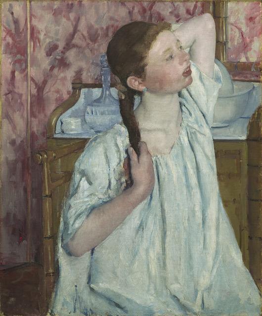 Mary Cassatt, 'Girl Arranging Her Hair', 1886, National Gallery of Art, Washington, D.C.