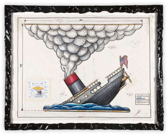 ", '""Sinking Ship Drawing"",' 2015, Chamber"