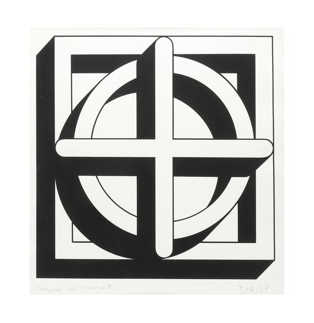 Imre Bak, 'Square-Circle-Cross II', 1977, The Mayor Gallery