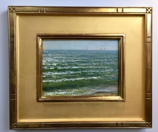 Mark Shasha, 'Sailors off Old Silver Beach', 2012, Painting, Oil, The Galleries at Salmagundi