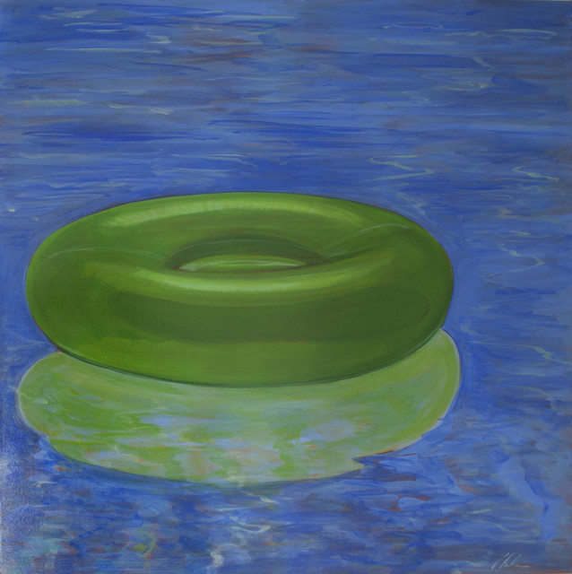 , 'Green Float Tube,' 2016, Caldwell Snyder Gallery